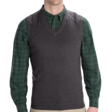 Woolrich Departure Sweater Vest (For Men) in Charcoal Heather - Closeouts