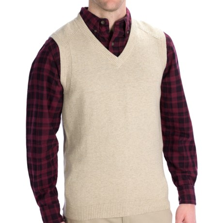Woolrich Departure Sweater Vest (For Men) in Wood Heather