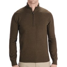 Woolrich Departure Sweater - Zip Neck, Long Sleeve (For Men) in Dark Loden Heather - Closeouts