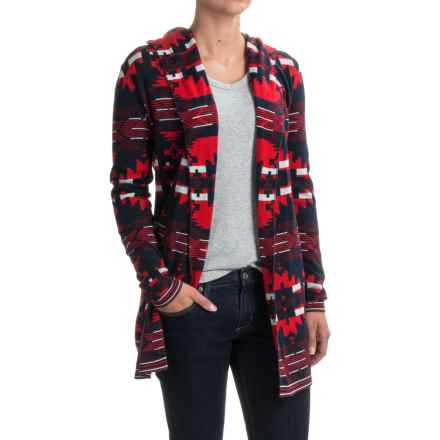 Woolrich Dew Berry Cardigan Sweater - Hooded (For Women) in Wine Multi - Closeouts