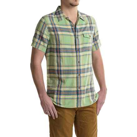 Woolrich Dobby Plaid Shirt - Short Sleeve (For Men) in Sprout - Closeouts