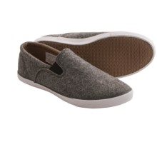 Woolrich Dock Wool Shoes - Slip-Ons (For Women) in Dark Heather Wool - Closeouts