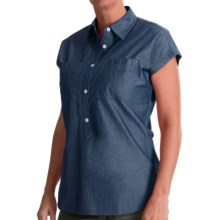 Woolrich Doe Run Chambray Shirt - UPF 50, Short Sleeve (For Women) in Ink - Closeouts
