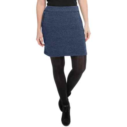 Woolrich Double Creek Fleece Skirt (For Women) in Navy - Closeouts