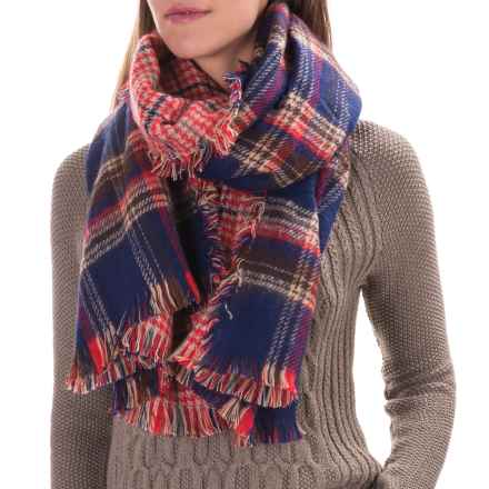 Woolrich Double Duty Plaid Wrap Scarf - Reversible (For Women) in Deep Indigo - Closeouts