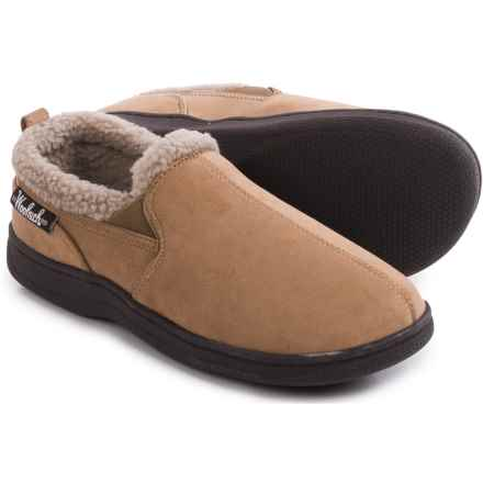 Woolrich Double-Gore Moccasin Slippers (For Men) in Tan/Hashbrown - Closeouts