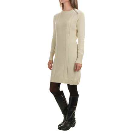 Woolrich Dutch Hollow Sweater Dress - Long Sleeve (For Women) in Wool Cream - Closeouts