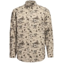 Woolrich Eagleton Trail Shirt - Long Sleeve (For Men) in British Tan Dogs - Closeouts