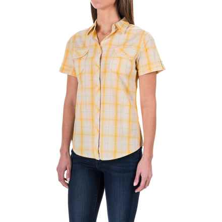 Woolrich Eaves Shirt - Short Sleeve (For Women) in Citrus - Closeouts