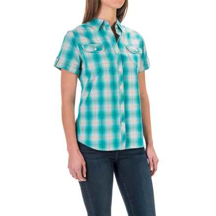 Woolrich Eaves Shirt - Short Sleeve (For Women) in Turquoise - Closeouts
