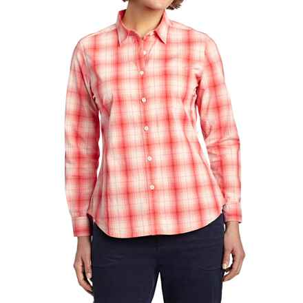 Woolrich Eaves Shirt - Stretch Poplin, Long Sleeve (For Women) in Carmine - Closeouts