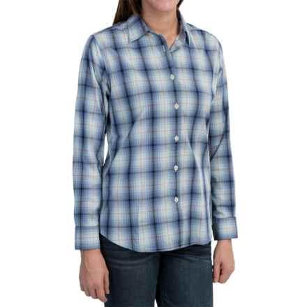 Woolrich Eaves Shirt - Stretch Poplin, Long Sleeve (For Women) in Deep Indigo - Closeouts