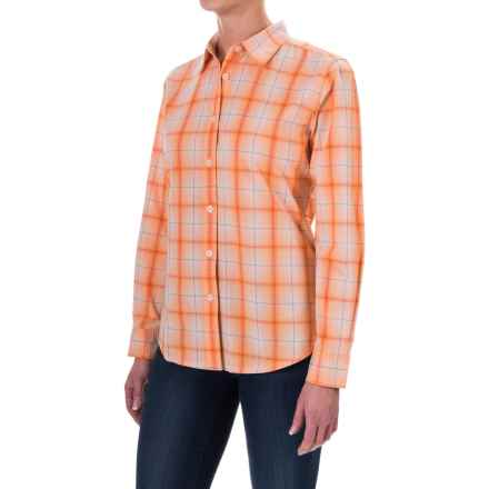 Woolrich Eaves Shirt - Stretch Poplin, Long Sleeve (For Women) in Mandarin - Closeouts