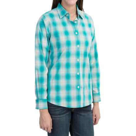 Woolrich Eaves Shirt - Stretch Poplin, Long Sleeve (For Women) in Turquoise - Closeouts