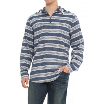 Woolrich Eco Rich Hemp Hooded Shirt - Long Sleeve (For Men) in Deep Indigo - Closeouts
