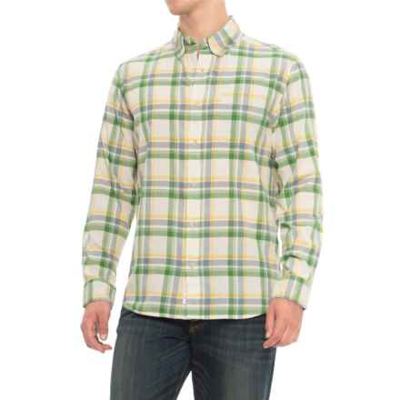 Woolrich Eco Rich Timberline Madras Plaid Shirt - Organic Cotton, Long Sleeve (For Men) in Malachite Green - Closeouts