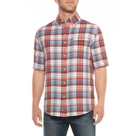 4c2d239b64a7b Woolrich Eco Rich Timberline Shirt - Short Sleeve (For Men) in Old Red  Tartan