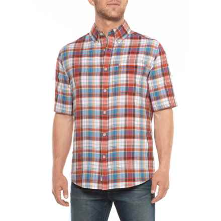 Woolrich Eco Rich Timberline Shirt - Short Sleeve (For Men) in Old Red Tartan - Closeouts