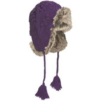 Woolrich Edelweiss Alpine Hat - Wool, Faux-Fur Trim (For Women) in Purple