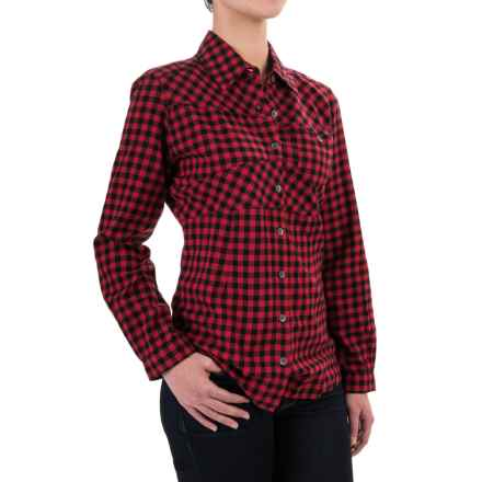 Woolrich Edgewood Flannel Shirt - Long Sleeve (For Women) in Old Red - Closeouts