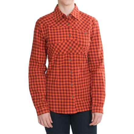 Woolrich Edgewood Flannel Shirt - Long Sleeve (For Women) in Persimmon - Closeouts