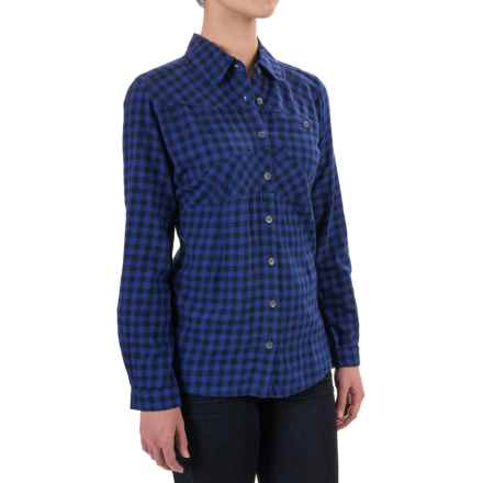 Woolrich Edgewood Flannel Shirt - Long Sleeve (For Women) in Royal - Closeouts