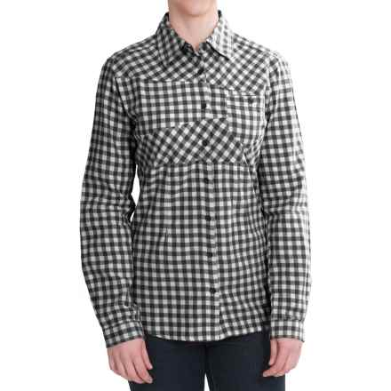 Woolrich Edgewood Flannel Shirt - Long Sleeve (For Women) in Winter White - Closeouts