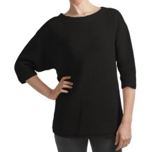 Woolrich Edgewood Sweater - Cotton, Elbow Sleeve (For Women) in Black - Closeouts