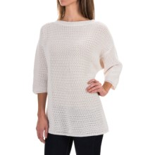 Woolrich Edgewood Sweater - Cotton, Elbow Sleeve (For Women) in Ecru - Closeouts
