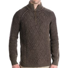 Woolrich Edgewood Sweater - Lambswool, Zip Neck, Long Sleeve (For Men) in Wood Heather - Closeouts