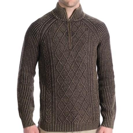 Woolrich Edgewood Sweater - Lambswool, Zip Neck, Long Sleeve (For Men) in Wood Heather