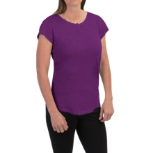 Woolrich Elemental Henley T-Shirt - Cotton, Short Sleeve (For Women) in Plum Purple - Closeouts