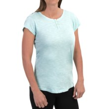 Woolrich Elemental Henley T-Shirt - Cotton, Short Sleeve (For Women) in Pool Blue - Closeouts