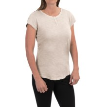 Woolrich Elemental Henley T-Shirt - Cotton, Short Sleeve (For Women) in Silver Gray - Closeouts