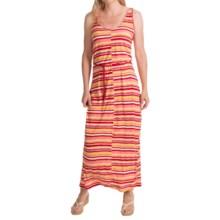 Woolrich Elemental Print Maxi Dress - Sleeveless (For Women) in Beet Stripe - Closeouts
