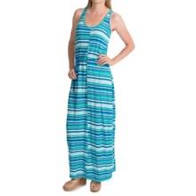 Woolrich Elemental Print Maxi Dress - Sleeveless (For Women) in Summer Sky Stripe - Closeouts