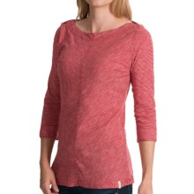 Woolrich Elemental Shirt - Boat Neck, 3/4 Sleeve (For Women) in Beet - Closeouts