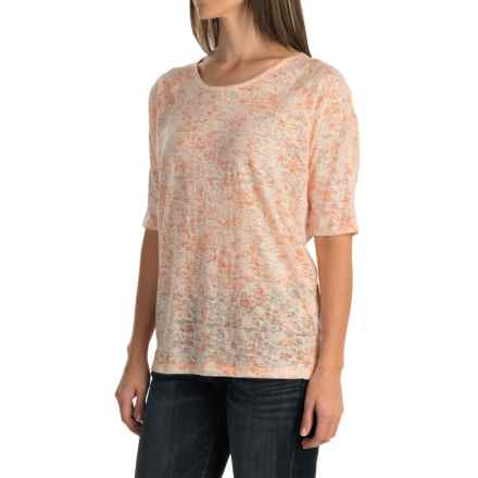 Woolrich Endless Spaces Burnout T-Shirt - Short Sleeve (For Women) in Shell - Closeouts