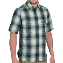 Woolrich Enroute Shirt - Short Sleeve (For Men) in Dp Indigo Plaid - Closeouts