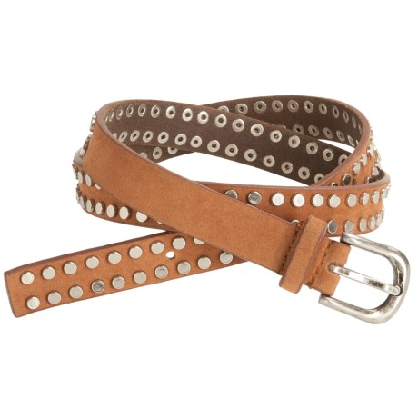 Woolrich Erica Belt -Leather, Rivets (For Women) in Russet
