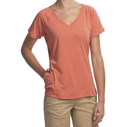 Woolrich Eureka Springs Stretch Jersey T-Shirt - UPF 50+, V-Neck, Short Sleeve (For Women) in Calypso - Closeouts