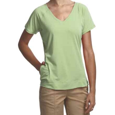 Woolrich Eureka Springs Stretch Jersey T-Shirt - UPF 50+, V-Neck, Short Sleeve (For Women) in Light Sprout - Closeouts