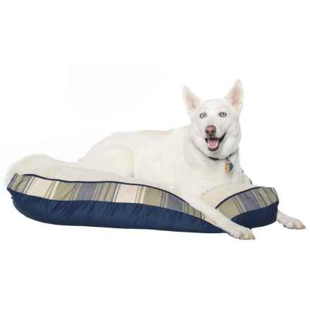 "Woolrich Everett Stripe Dog Bed - 30x40"" in Green - Closeouts"