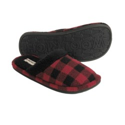 Woolrich Evergreen II Fleece Slippers (For Women) in Buffalo Plaid