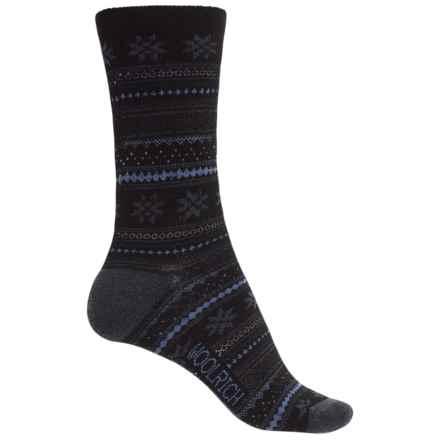 Woolrich Everyday Heritage Stripe Socks - Merino Wool, Crew (For Women) in Jet - Closeouts
