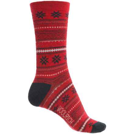 Woolrich Everyday Heritage Stripe Socks - Merino Wool, Crew (For Women) in Poppy - Closeouts