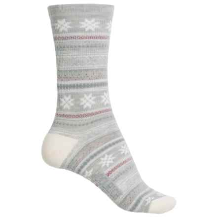 Woolrich Everyday Heritage Stripe Socks - Merino Wool, Crew (For Women) in Soft Gray - Closeouts