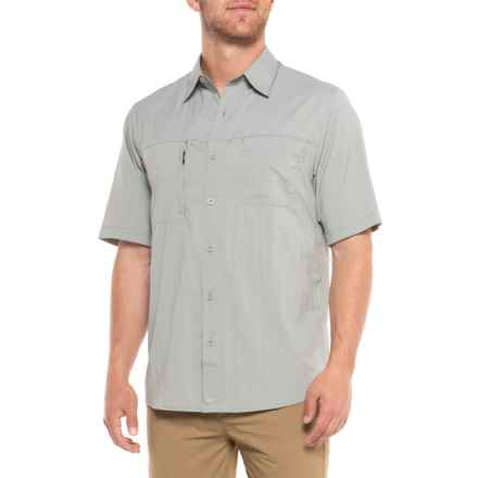 Woolrich Expedition Canyon Shirt - UPF 50, Short Sleeve (For Men) in Limestone - Closeouts