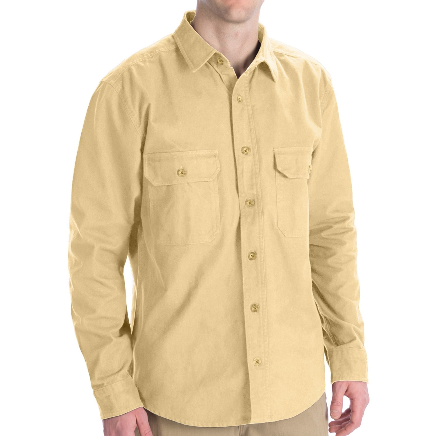 Woolrich Expedition Chamois Long Shirt - 9 oz. Cotton ...