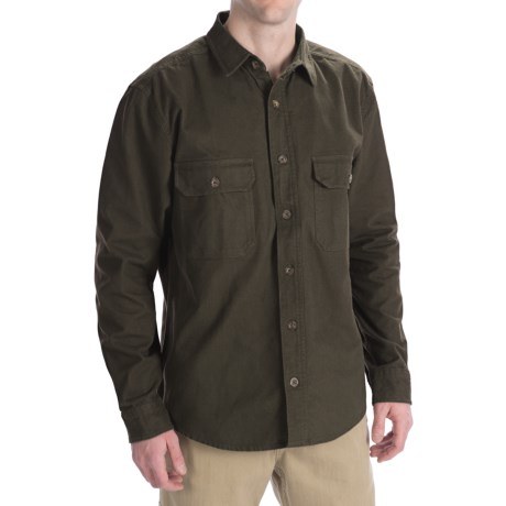 Woolrich Expedition Chamois Shirt - 9 oz. Cotton, Long Sleeve (For Men) in Hunter